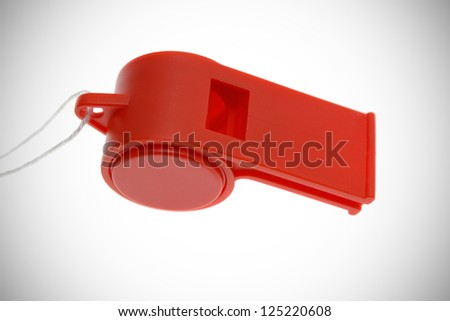 Red whistle - stock photo
