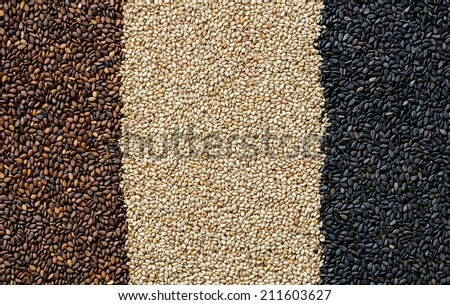 Red white and black sesame background