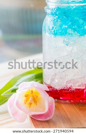 Red white and blue drink  - stock photo