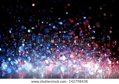 Red, white and blue glitter - stock photo