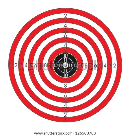 Red / white / black shooting target