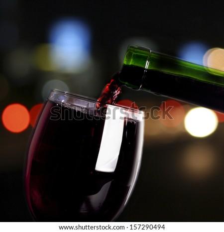 Red wine. - stock photo
