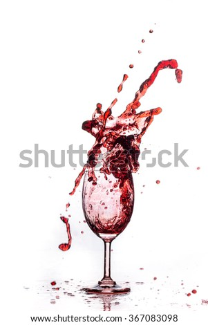 red wine and wine splash
