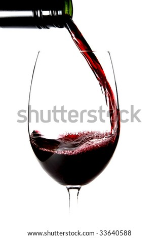 red wine being poured into glass