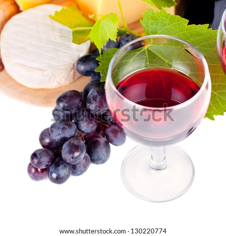 Red wine by the glass, close-up - stock photo
