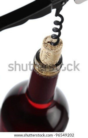 Red wine cork - stock photo