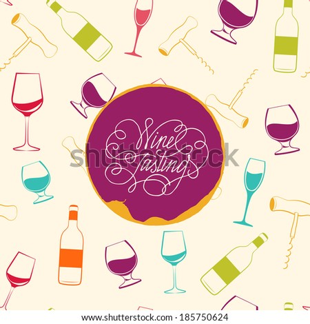 Red wine drops over text paper background.  Illustration. - stock photo
