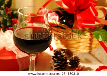 red wine for Christmas party