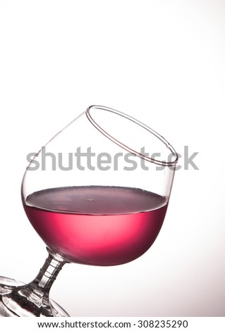 Red wine glass - stock photo