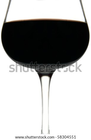 red wine glass isolated in white background