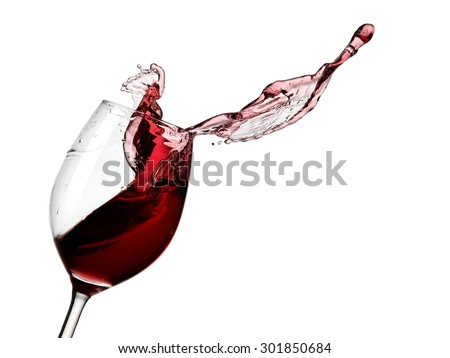 Red wine glass up - stock photo
