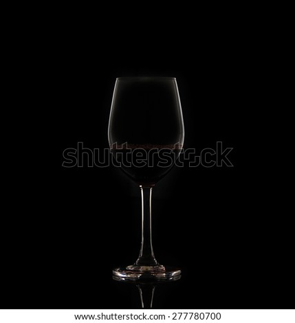 Red wine in glasses isolated on white background - stock photo