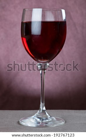 Red wine in wine glass close up