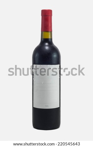 red wine isolated in white background