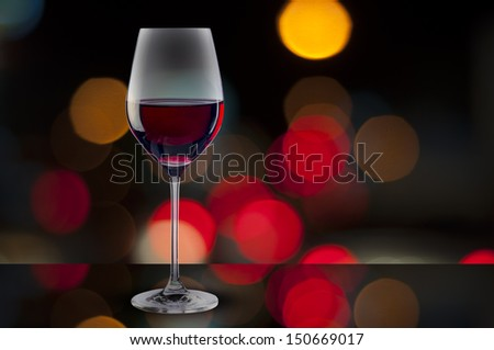 Red Wine on night scene background