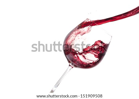 red wine pour, horizontal image