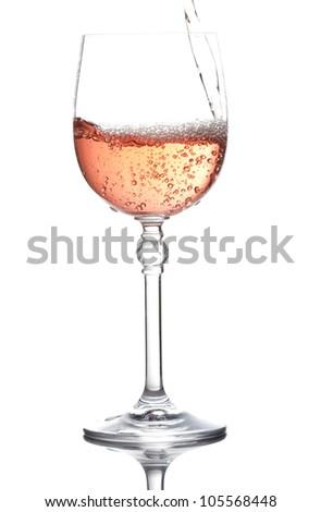 red wine splashing - stock photo