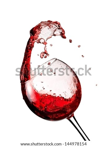 Red wine up and turn - stock photo