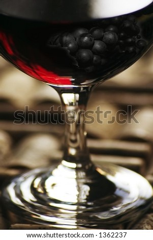 red wine with grape overlay, in tiff