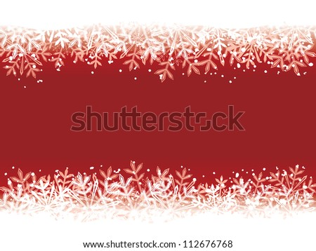 Red winter background. Raster version, vector file id: 112142249 - stock photo
