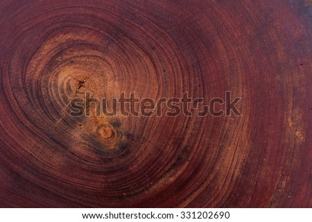 red wood logs texture background of aged annual rings - stock photo