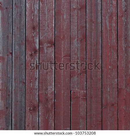 Red Wood Texture (Square) - stock photo