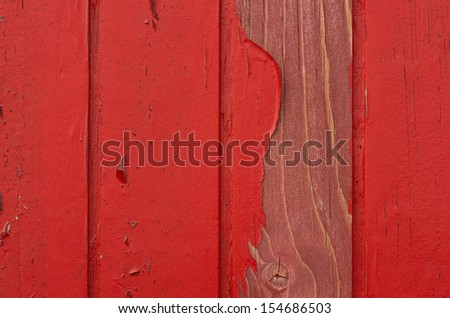 Red Wood with damaged Paint