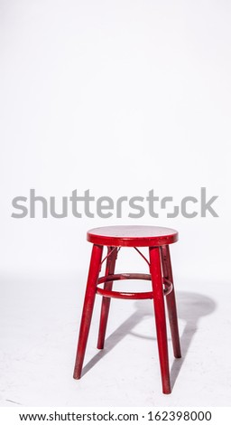 Red wooden chair - stock photo
