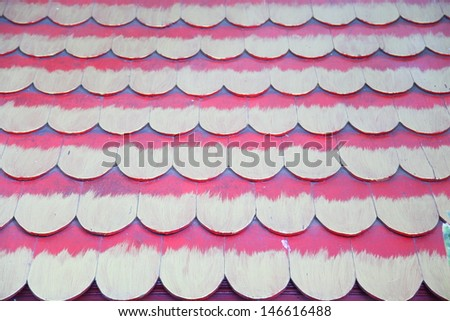red wooden tiles  - stock photo