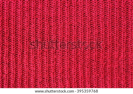 Red yarn for background, Red texture background - stock photo