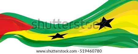 red yellow green flag of the Democratic Republic of Sao Tome and Principe