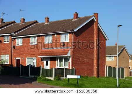 Redbrick english houses - stock photo