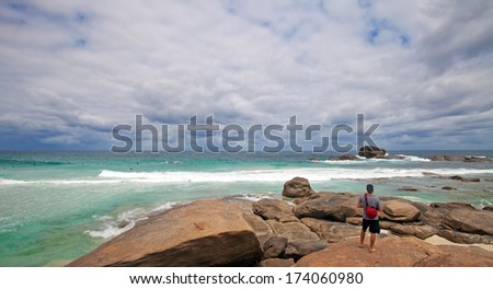 Redgate beach, near Margaret River,western Australia  - stock photo
