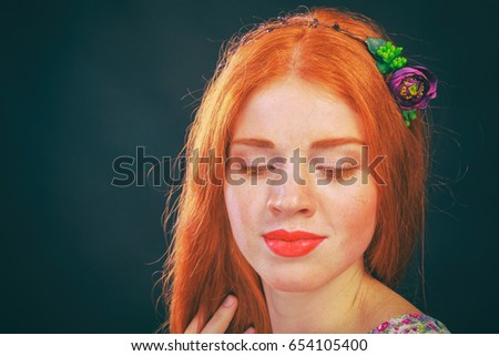 Redheaded wonderful girl