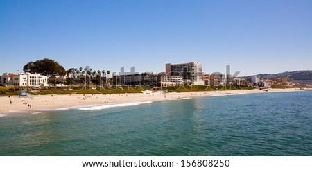 Redondo Beach on a warm sunny day in Los Angeles, California, USA - stock photo