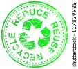 Reduce, reuse and recycle rubber stamp illustration - stock photo