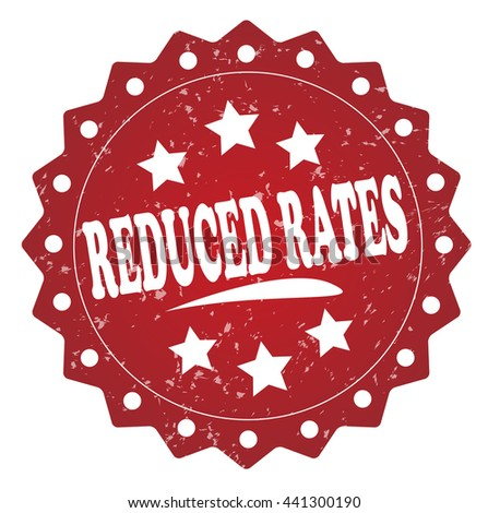 reduced rates grunge stamp - stock photo