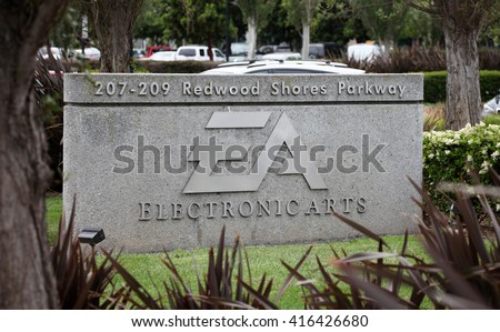 REDWOOD SHORES, CA - CIRCA MAY 2016 - Electronic Arts Headquarters. Electronic Arts (NASDAQ: EA) is an international leading games company based in California. - stock photo
