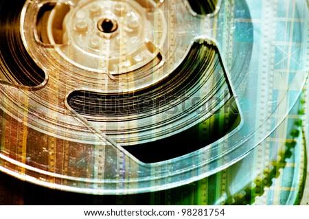 reel of film - stock photo