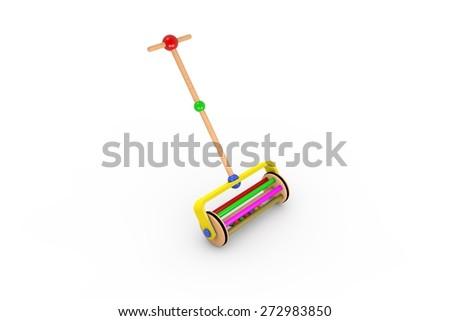 Reel - Wooden toys - stock photo