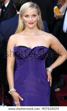 Reese Witherspoon at the 88th Annual Academy Awards held at the Dolby Theatre in Hollywood, USA on February 28, 2016. - stock photo