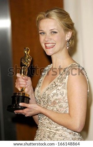 Reese Witherspoon, in a 1955 Christian Dior dress and Fred Leighton jewelry, OSCARS 78th Annual Academy Awards, The Kodak Theater, Los Angeles, March 05, 2006 - stock photo