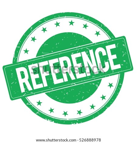 REFERENCE stamp sign text word logo green.