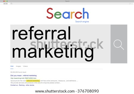 Referral Marketing Consumer Identity Recommend Concept - stock photo
