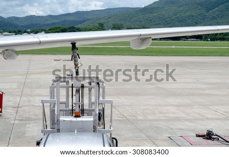 Refill fuel airplane