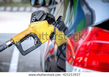 Refilling the car with fuel