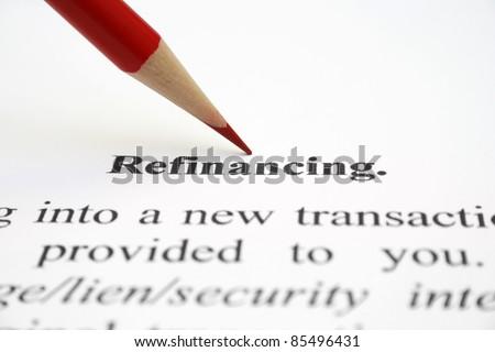 Refinancing - stock photo
