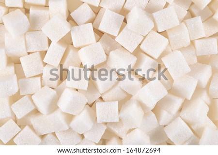 Refined sugar background - stock photo