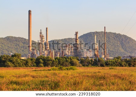 Refineries in the daytime. - stock photo
