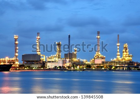 Refinery at twilight